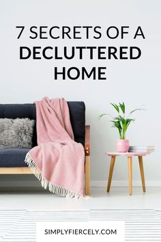 Do you ever wonder how to maintain a decluttered home? Here are a few surprising secrets I've learned about how to clear the clutter for good. This is a must read if you want to declutter your home and you're feeling overwhelmed, or wondering how to get started. #decluttering #minimalisthome Joy Of Living, Slow Living, Home And Living, Declutter Home, Declutter Your Life, Clutter Free Home, Cleaning Materials, Extra Rooms, Minimalist Living