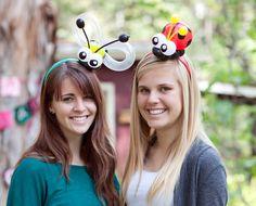Bumblebee and ladybug balloon hairbands