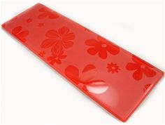 Red Glass Tile (Flower Series)