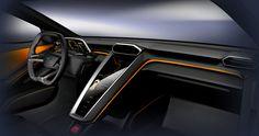 The futuristic Modular GTzero, is the Italian green modular Gran Turismo with zero emissions. The Modular GTzero unveiled at the Geneva International Motor Show… Car Interior Sketch, Car Interior Design, Truck Interior, Car Design Sketch, Car Sketch, Automotive Design, Interior Styling, Lamborghini, Bugatti