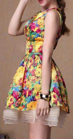 Cheap Unique Fresh Floral Silk Dress&Party Dress For Big Sale! Silk Floral Dress, Silk Dress, Floral Dresses, Printed Dresses, Sexy Dresses, Cute Dresses, Short Dresses, Planet Fashion, Dress Me Up