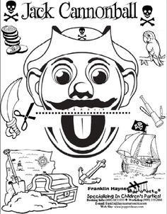 Free Paper Bag Puppet pirate Print Outs | Pirate Jack Cannonball