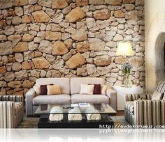 Taş desenli duvar kağıdı