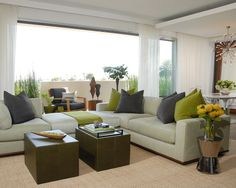 sectional with ottoman in the middle