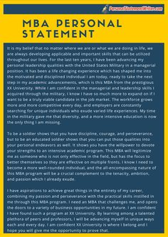 MBA personal statement sample that will give you the inspiration ...