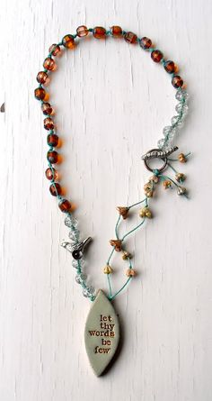 Songbeads:  Love these handcrafted necklaces. Neck candy.