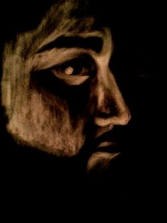 White charcoal on black. My brother.