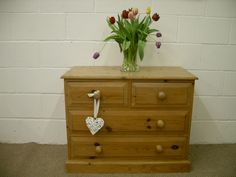WAXED SOLID PINE CHEST OF DRAWERS QUALITY PINE THROUGHOUT - W 92 - D 48 - H 73 CM - £125 http://www.drabtofabfurniture.co.uk/non-painted-furniture/