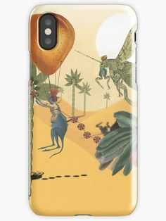' iPhone Case by HeartActivation Weird And Wonderful, Iphone Case Covers, Art History, Kangaroo, Creative Design, Farmer, Turning, Competition, Cactus