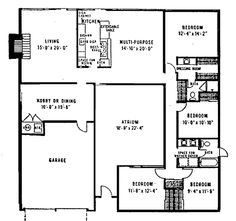 1000 images about eichler floorplans on pinterest floor Eichler atrium floor plan
