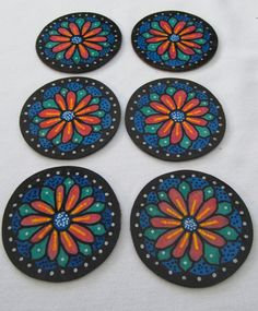 Hand Cut Floral Coaster Set by IanG Crafty Endeavours on Etsy