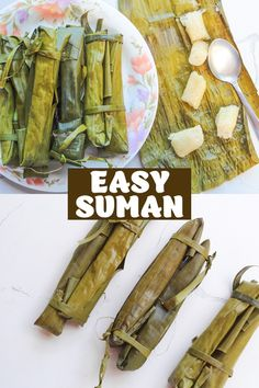 Suman Malagkit is a Filipino recipe made from glutinous rice cooked with ginger, coconut milk and sugar until al dente. Then wrapped in banana leaves and steamed to perfection. It is an easy rice recipe for breakfast or snack. Serve this with a hot chocolate or mangoes and enjoy! Rice Breakfast Recipes, Easy Rice Recipes, Chocolate Powder, Hot Chocolate Mix, Filipino Desserts, Filipino Recipes, Cooking With Ginger, Cassava Cake, Ginger Water