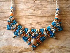 Macrame necklace/Hippie chic necklace/Macrame by Ancientmacrame, €15.95