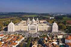 Palacio Nacional de Mafra, Portugal ... it overshadows the entire town ... building it nearly bankrupted Portugal ...