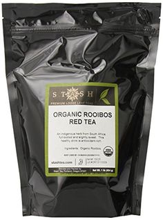 Stash Tea Organic Rooibos Loose Leaf Tea 16 Ounce >>> You can find more details by visiting the image link. (This is an affiliate link and I receive a commission for the sales) Stash Tea Company, Tea Design, Types Of Tea, Loose Leaf Tea, Refreshing Drinks, Drinking Tea, Gourmet Recipes, Tea Cups, Organic