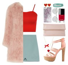 """""""Untitled #40"""" by titaaz ❤ liked on Polyvore featuring WearAll, Topshop Unique, Charlotte Russe, Whistles, Skinnydip, Fendi, FOSSIL and Chanel"""