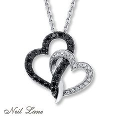 Neil Lane Designs 1/3 ct tw Diamonds Sterling Silver Necklace