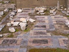 Colourful marble paving in the Forum of Augustus #roman #archaeology  Ph. @OptimoPrincipi