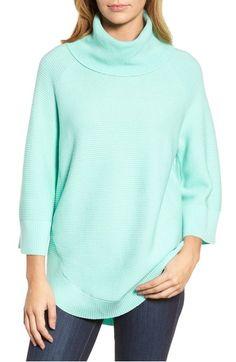 Main Image - Chaus Cowl Neck Shirttail Hem Sweater