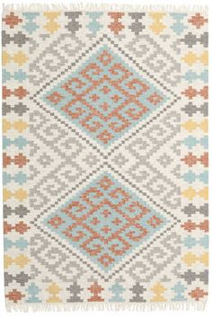 East Urban Home Contemporary Yellow/Brown/Gray Area Rug Rug Size: Square Navy Blue Area Rug, White Area Rug, Beige Area Rugs, Fibre Textile, Yellow And Brown, Woven Rug, Soft Colors, Country, Rug Size