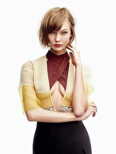 American model Karlie Kloss covers the January 2014 issue of Vogue Japan and features inside for a full editorial  Photographed by:Patrick Demarchelier Styled by:Sabino Pantone