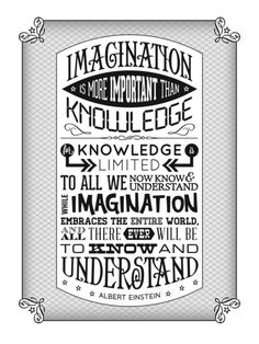 Einstein Imagination Quote poster Art Print