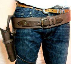 Leather Tooled Holster Gun Belt - $67.97                                                                                                                                                                                 More