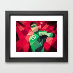DC Comics Green Lantern Framed Art Print