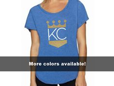 Another cute KC Royals slouchy tshirt! Available in 3 color options this comfy soft shirt has a wide neck and is the perfect fit. Cheer on your Kansas City Royals in style. Exclusive design by The Word Zone! Design color will depend on Shirt color (see image above):  Grey Shirt comes with Solid Royal Blue KC and Gold Glitter Crown  Blue Shirt comes with Solid White KC and Gold Glitter Crown  Black Shirt comes with Solid White KC and Gold Glitter Crown