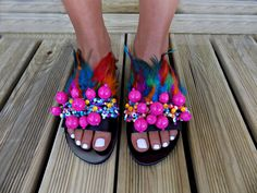6010fa649e2 Greek Leather Sandals, Feather sandals