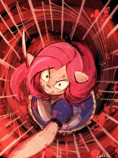 Pinkamena in Wonderland(30minutechallenge) by luminaura.deviantart.com on @DeviantArt