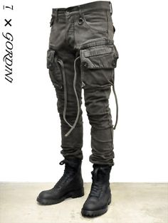 _Julius for Gordini narrow gasmask cargo pants
