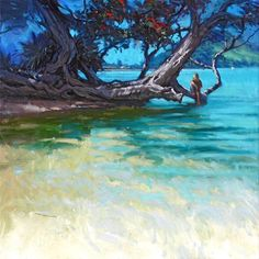 Richard Robinson Gallery - Oil painting of Pataua in New Zealand.