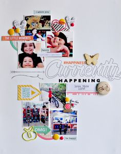#happiness - Scrapbook.com - Great 8.5x11 design for multi photo layout.