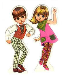 Mods Paperdolls from the 1960s-Milton Bradley