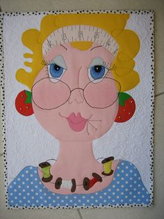 This lady quilt makes me smile.