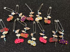 Girl Scout Swap We strung blue beads for the ocean, a flip flop charm and mini sea shells.