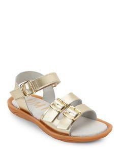 Umi (Kids Girls) Gold Celeste Open Toe Flat Sandals