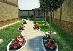 Side Yard Landscaping, Small Backyard Landscaping, Backyard Ideas, Front Garden Landscape, Landscape Design, Side Yards, Yard Design, Beautiful Gardens, Gardening