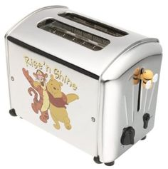VillaWare V5555-14 Pooh n' Pals Toaster 2-Slice I have this toaster . Mom got it for me 10+ years ago!!! I had no idea it cost so much~ still works with a spark and the music quit about 2 years ago..... oh Mom my sweet Mama