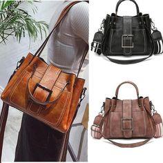 SCDS Thigh PU Leather Lady Handbag Tote Bag Zipper Shoulder Bag