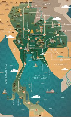 The Future of Thailand, map by Chinapat Yeukprasert.