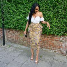 Simple yet elegant short Ankara skirts designs.