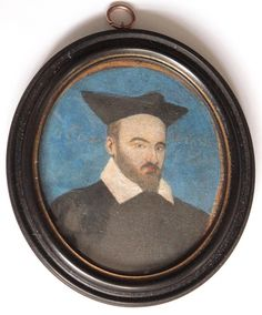 A portrait miniature of A Merchant aged 50, dated 1601