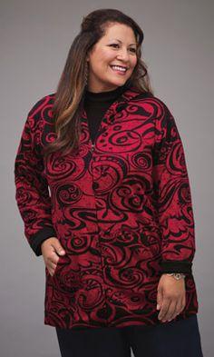 MiB's Denver Hoodie - Bold print, cotton knit comfort.