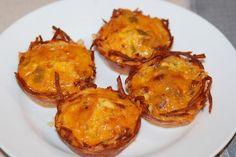 Potato hashbrown egg muffins