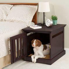 The Nightstand Dog House - Hammacher Schlemmer