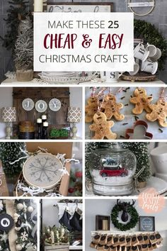 Christmas time is busy enough without complicated crafts. That's why I'm sharing these 25 cheap and easy Christmas crafts that you can make today!