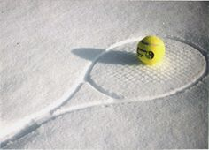 Love this tennis racquet in the snow!