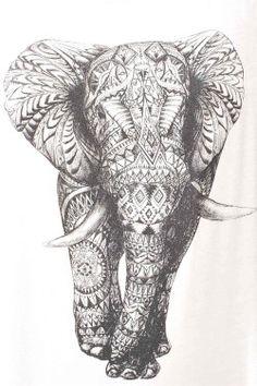 art girl Black and White fashion white hippie hipster design boho indie dream peace pattern girly mandala elephany